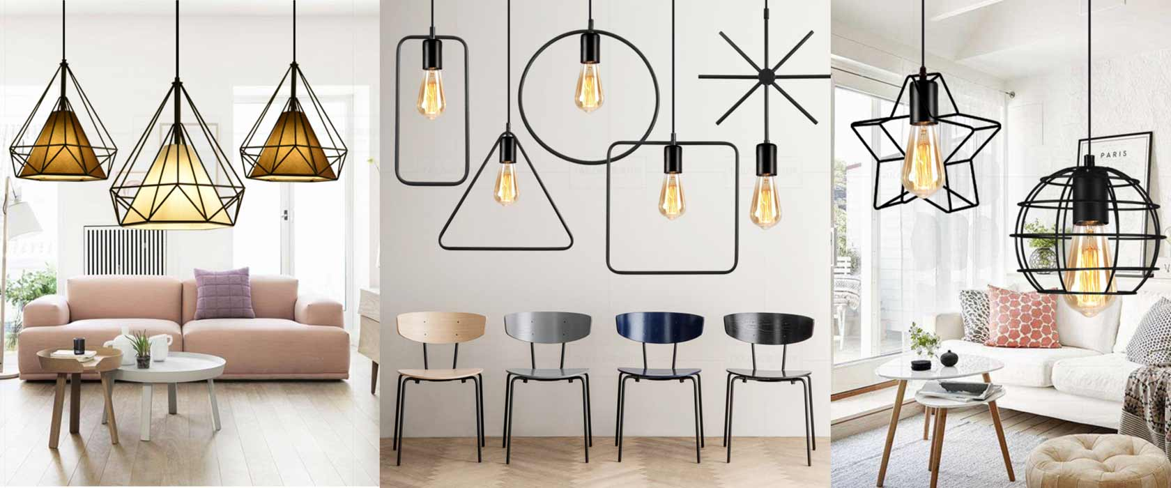 European simply pendant light E27 lampholder